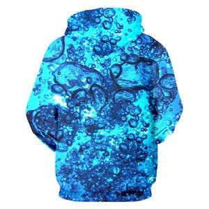 Image 2 - Ujwi ジッパーパーカー男新パーソナリティ 3D プリント水滴海セットカラフルなビッグサイズユニセックス付きスウェット