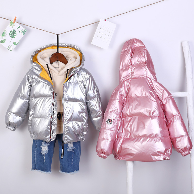 Clothing Hooded-Jacket Light Girls Boys Children's New Autumn Short Thick And Solid Down