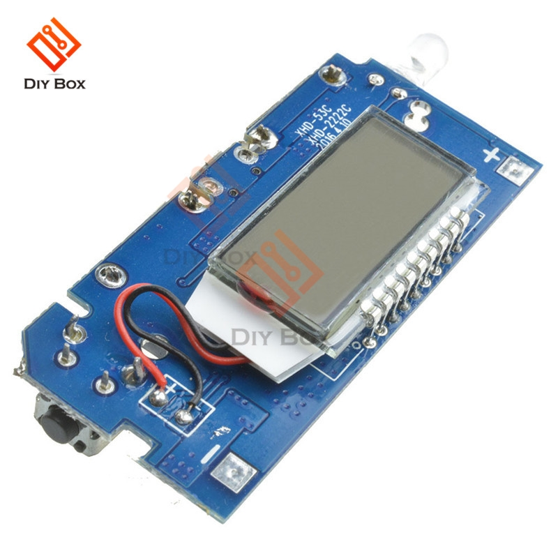Dual USB Mobile <font><b>Power</b></font> <font><b>Bank</b></font> Accessories 18650 Battery Charger <font><b>PCB</b></font> <font><b>Power</b></font> Module 5V 1A 2.1A LED Digital LCD Module Board image