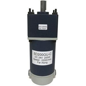 Image 2 - Motorreductor de corriente continua Micro eléctrico potente, 200W, 12V, 24V, alto Torque, baja velocidad, de 10 a 600RPM, motores de CC, velocidad ajustable inversa