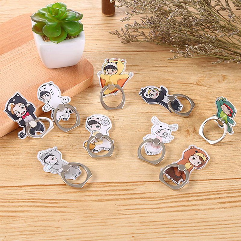 2019 New EXO Bai Xian Pu Canlie Zhang Yixing Wu Shixun Mobile Phone Ring Bracket For IPhone6s 7 8p X XR XS Max