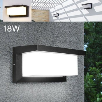 Sterowanie oświetleniem czujnik ruchu ściana zewnętrzna 18W ogrodowa czujnik ruchu ściana światło nowoczesna lampa ogrodowa Park oświetlenie krajobrazu tanie i dobre opinie Mayitr CN (pochodzenie) Motion Sensor Wall Light IP65 220 v Nowoczesne Żarówki led Ze szkła borokrzemianowego