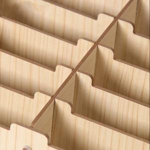 Image 3 - Kreatywne drewniane etui na karty uwaga posiadacze do biurka wizytowniki akcesoria biurowe stojak klip