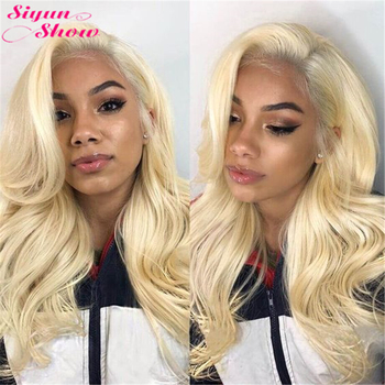 Siyun Show 613 Lace Front Wig Blonde Body Wave 613 Wig Frontal Remy Glueless Full Lace Front Human Hair Wigs For Women Lace Wig image