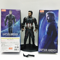 30cm Crazy Toys Marvel Avengers American Captain Statue PVC Action Figure Model Toy Doll Gift