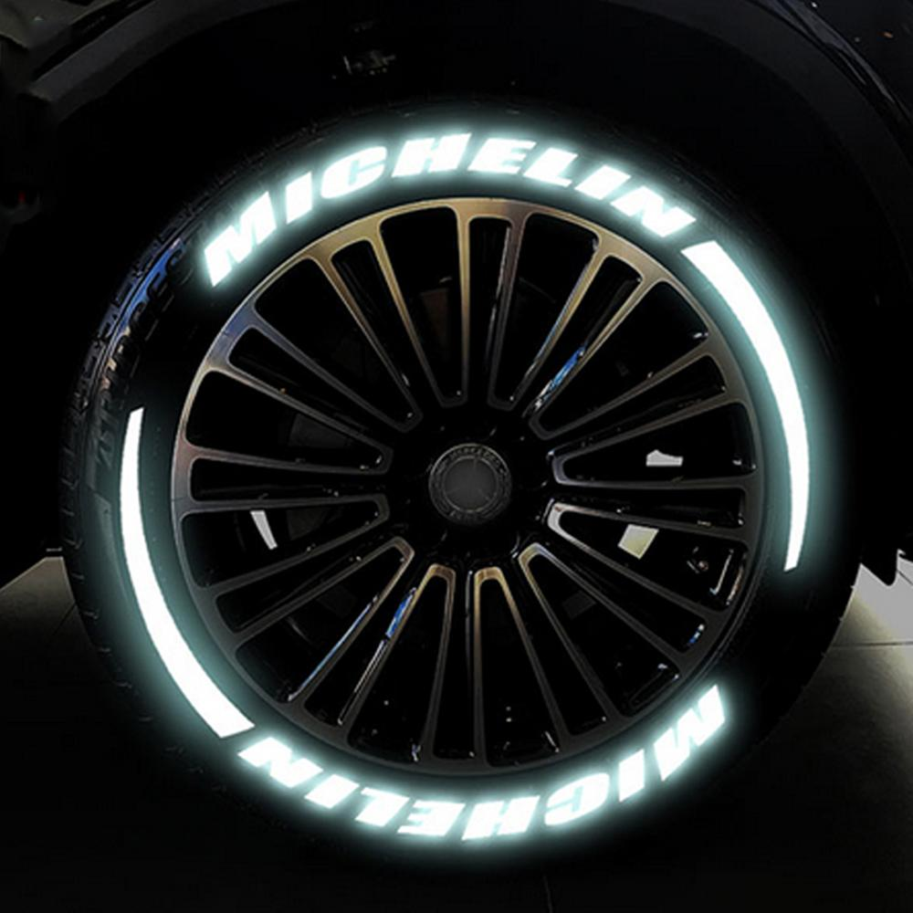 Car Reflective Wheel Hub Sticker Tuning Decals 3D Logo Universal Tire Letterings Kits Wheels Label DIY Styling For Ford Mustang