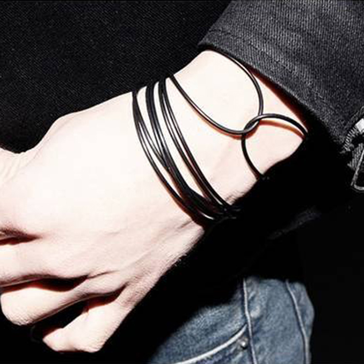New 10pcs Pure Black Fashion Bracelet Adult Children's Jelly Luminous Silicone Bracelets Fluorescent Beautiful Silicon Jewelry