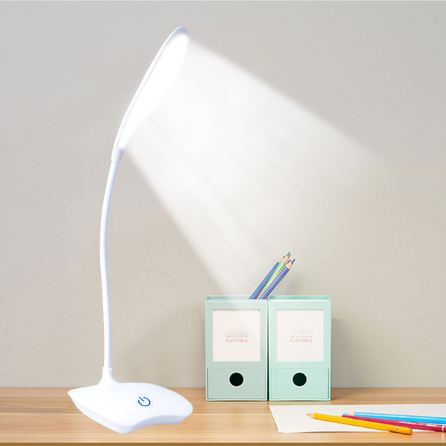 Office Lamp LED Lamp Table Lamp Rechargeable Desk Lamp Bright Table Lamp Office Table Top Lanterns For Reading Book Lights cheap KINGSHAN CN(Origin) ROHS KL-95AA Touch On Off Switch Polished Chrome Shadeless PVC Plastic Dimmable Touch Switch LED Stand Desk Lamp