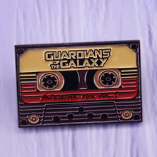 Guardians Of The Galaxy Awesome Cassette Tape brooch pin Star Lord Cosplay Gift