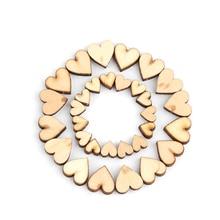 100 шт 4 размера смешанные деревенские милые деревянные любовь сердце для декорации стола одежда украшения инструменты Свадебный декор ремесла аксессуар