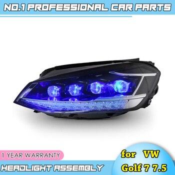 car accessories for VW Golf 7 7.5 Headlights 2014-2018 All LED Matrix Headlights Daytime Running Light Dynamic Turn Signal Lens