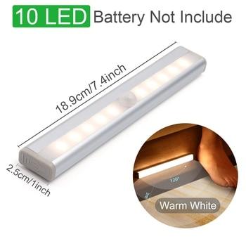 Motion Sensor Wireless LED Night Lights Bedroom Decor Light Detector Wall Decorative Lamp Staircase Closet Room Aisle Lighting 9