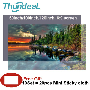 High Brightness Reflective Projector Screen 60 100 120 inch 16:9 Fabric Cloth Projection Screen for Espon BenQ TD96 Home Beamer