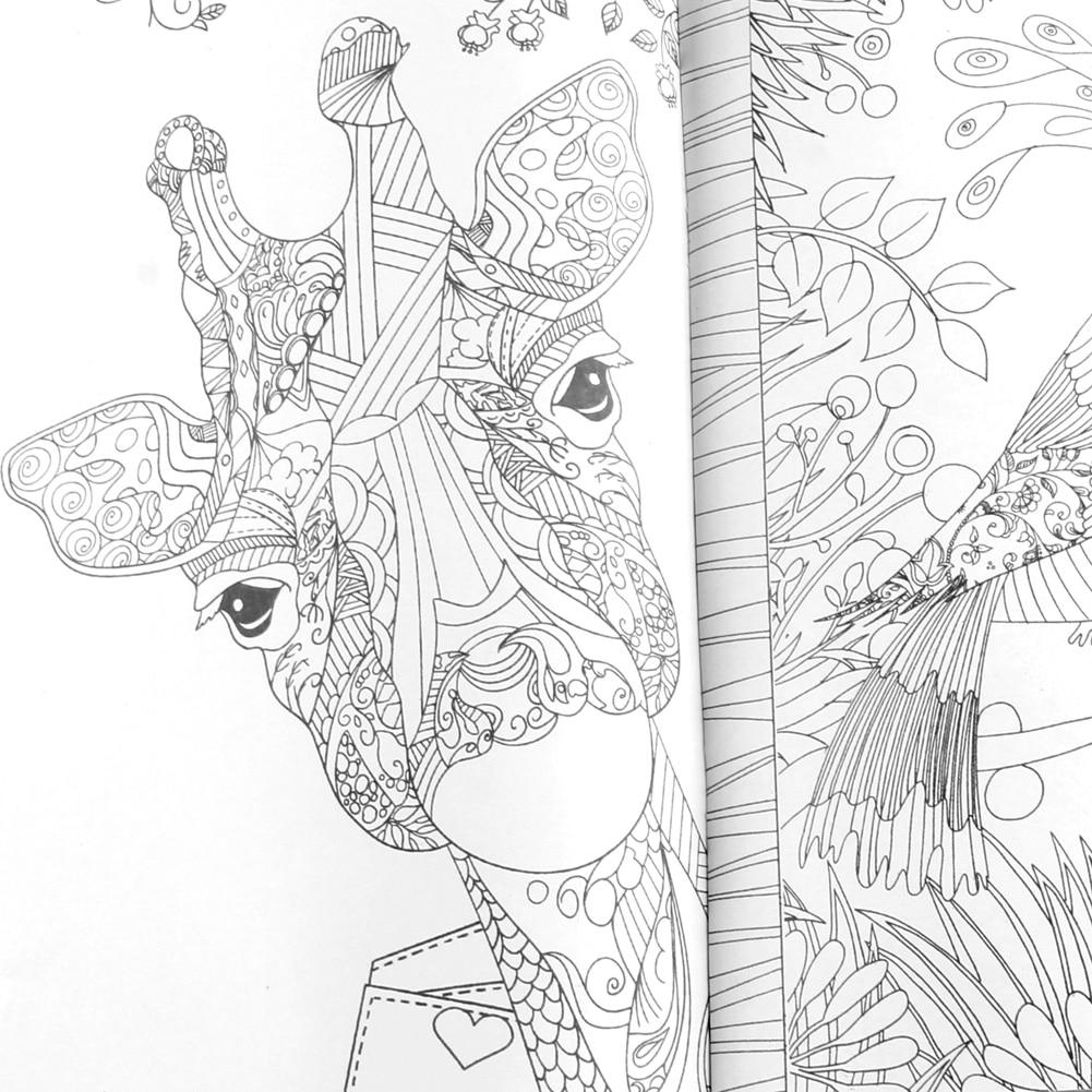 25*25CM Fairy Tales And Magical Dreams Children Adult Graffiti Coloring Book