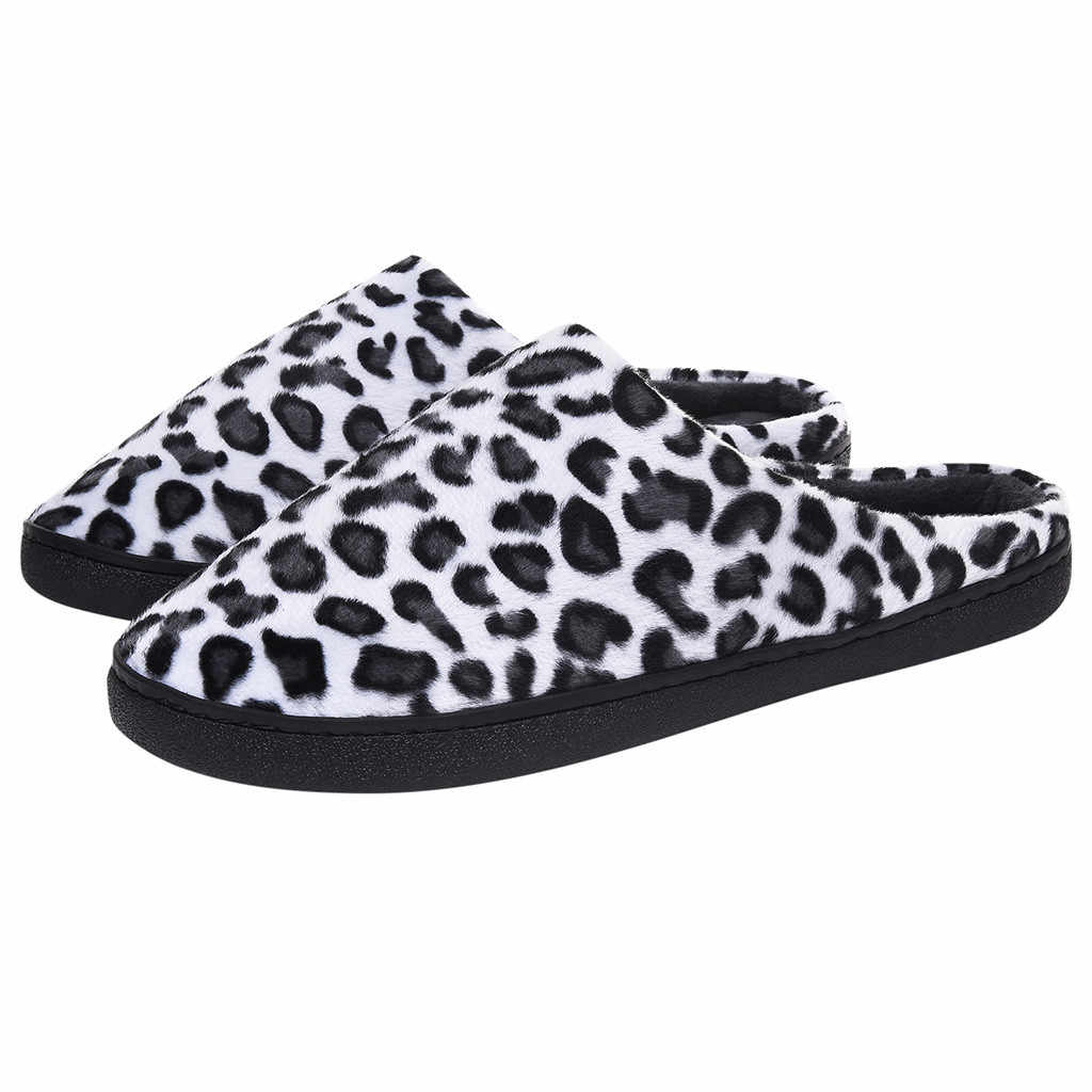SAGACE Couple Winter slippers men Indoor Home Leopard Slippers Non-Slip Casual Shoes Men Hotel Slippers Shoes Fluffy Big Sizes