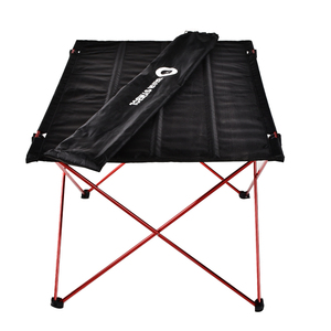 Image 2 - Outdoor Furniture Table Red Folding Camping Table Light Color Weight Ultralight Desk Fishing Tables Modern Foldable Furniture