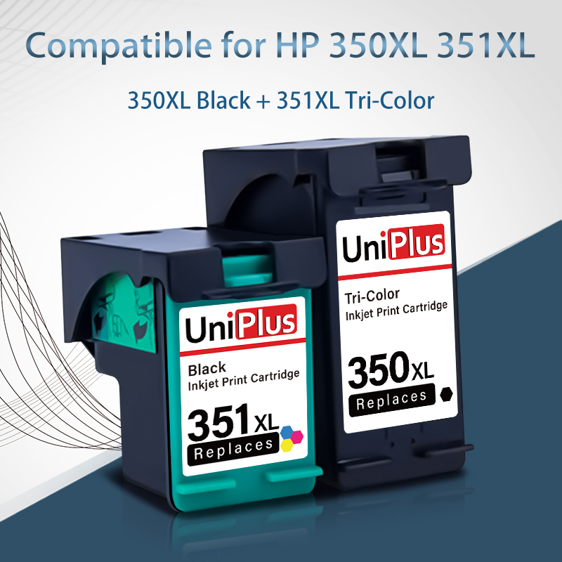 UniPlus 350XL 351XL Ink <font><b>Cartridges</b></font> Compatible for <font><b>HP</b></font> 350 <font><b>HP</b></font> <font><b>351</b></font> for Printer Deskjet D4260 D4280 D4360 OfficeJet J5725 J5730 image