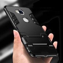 Для Huawei Honor 5X KIW-L21 чехол силиконовый пластиковый Гибридный бронированный чехол с подставкой Чехол для телефона Huawei GR5 KII-L21 KII-L05 KII-L23 KII-L22