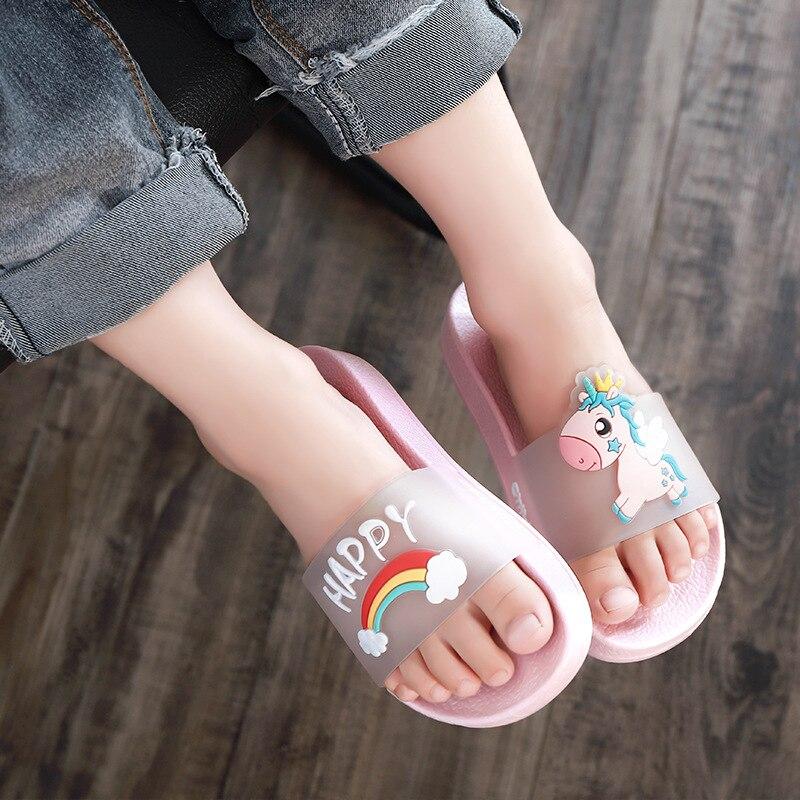 Kids Summer Slipper Demon King House Slippers Shower Slide Anti-Slip Beach Pool Bath Sandals for Boys Girls