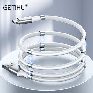 GETIHU-Cable magnético de carga rápida para móvil, Cable Micro USB tipo C para Samsung S20, S10, S9, Xiaomi mi 9, 8, Note 9s