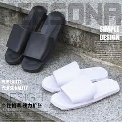 Красивые домашние сандалии в Корейском стиле; женская домашняя обувь на мягкой нескользящей подошве для ванной; мужская домашняя обувь для