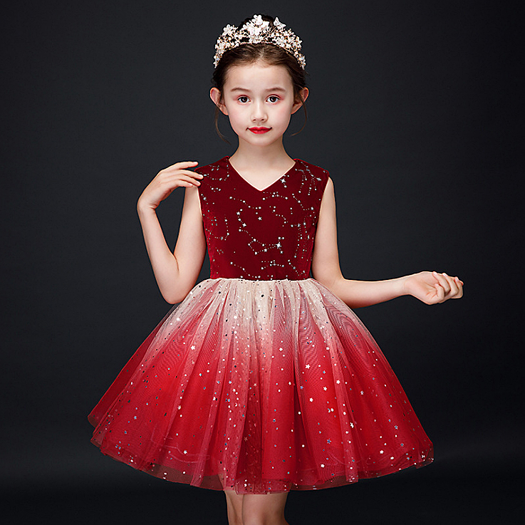 Retail 3096 Sequins Princess Costume Baby Girl Dress 2020 New Spring Summer Party Wedding Kid Dress For Girl Easter Day Clothes