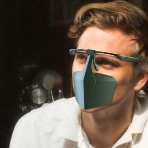 Image 5 - Protetor de boca rosto protetor máscaras faceshell anti respingo escudo dropletproof escudos anti infecção isolamento proteção da tela