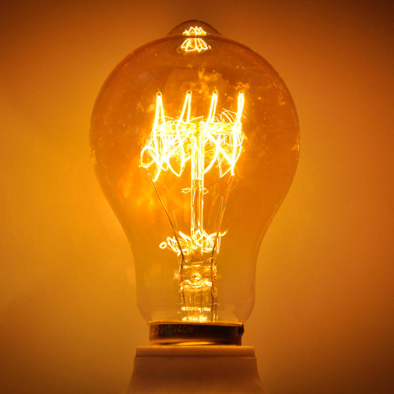 A19 Vintage Retro Style Lighting Lamp 40W Edison Retro Tungsten E27 Bulb Cafes Home Decor