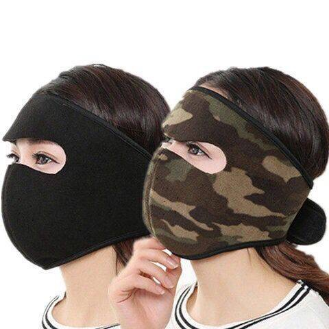 H844ee3b644ee4396a90e45ccbffa05523 [both men and women] autumn and winter cycling mask heating thickened mask earmuffs integrated ear-protecting warm mask