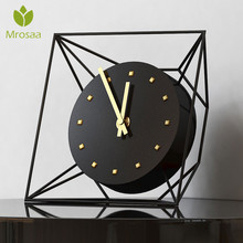 5 pulgadas reloj de hierro antiguo europeo de lujo sala de estar hogar Vintage reloj de mesa Retro romano adornos de escritorio