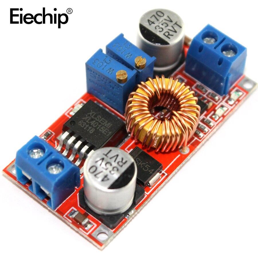 5 шт. XL4015 DC-DC постоянного напряжения тока понижающий преобразователь зарядная плата литиевая батарея зарядное устройство 5 V-32 V-0,8 V-30 V 5A