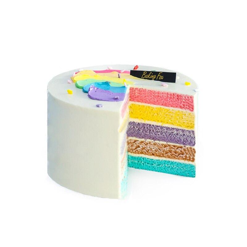 4PCS Round Shaped Silicone Cake Mold Rainbow Cake Baking Form Pan Chiffon Cake Decorating Tool