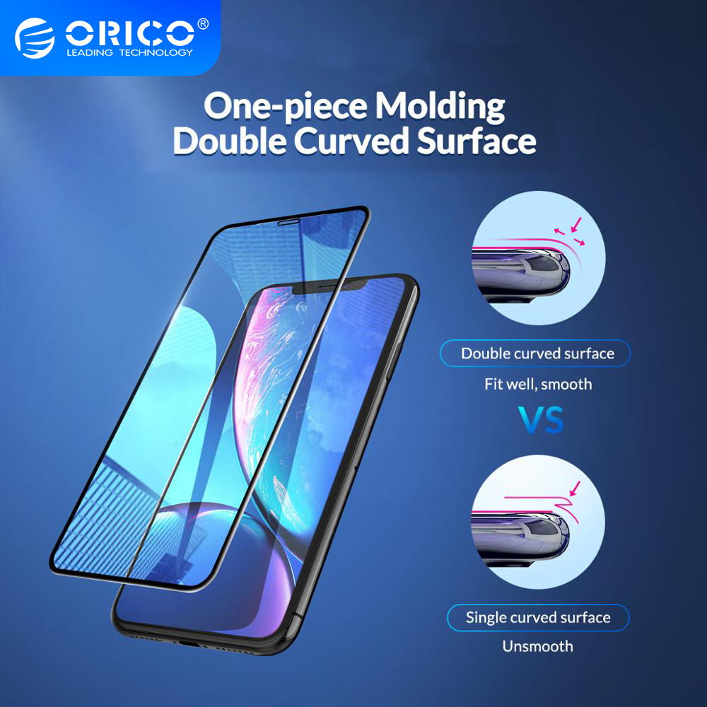 ORICO Full Coverage Tempered Protective Glass for <font><b>iPhone</b></font> <font><b>X</b></font> <font><b>XS</b></font> XR Screen Protector Toughened Glass <font><b>Film</b></font> On <font><b>iphone</b></font> <font><b>XS</b></font> Max image