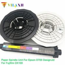 Vilaxh Compatible Paper Spindle Unit replacement for Epson D700 DesignJet For Fujifilm DX100 Plotter Parts free shipping compatible new for hp1055 1050 encode strip 36 inch design jet part c6072 60197 plotter parts on sale