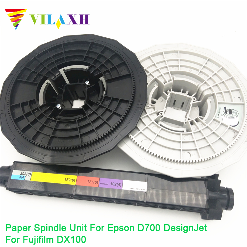 Vilaxh Compatible Paper Spindle Unit replacement for <font><b>Epson</b></font> <font><b>D700</b></font> DesignJet For Fujifilm DX100 Plotter Parts image
