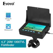 Eyoyo 4.3inch Fishing Camera 20M Cable 10000mAh Battery Underwater Fish Finder 1000TVL Fishing Video Camera Ice Sea Fish 20m professional fish finder underwater fishing video camera monitor 150 degree angle 4 3 inch lcd monitor with 20m cable new