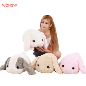 1pc 40cm big long ears rabbit plush animals toys stuffed bunny rabbit soft toys baby kids sleep toys birthday giftsигрушки(China)