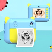 Children Camera Kids Instant Print Camera With Thermal Photo Paper 1080P Photo Video Digital Cameras For Children Birthday Gifts