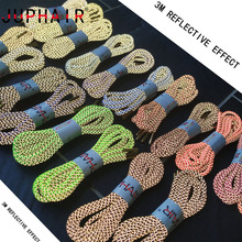 JUPHAIR 60-160cm Golden Metal Head Sport Shoelaces 3M Reflective Round Shoe Laces Fluorescent Shoelace Sneaker Shoestrings Rope цены