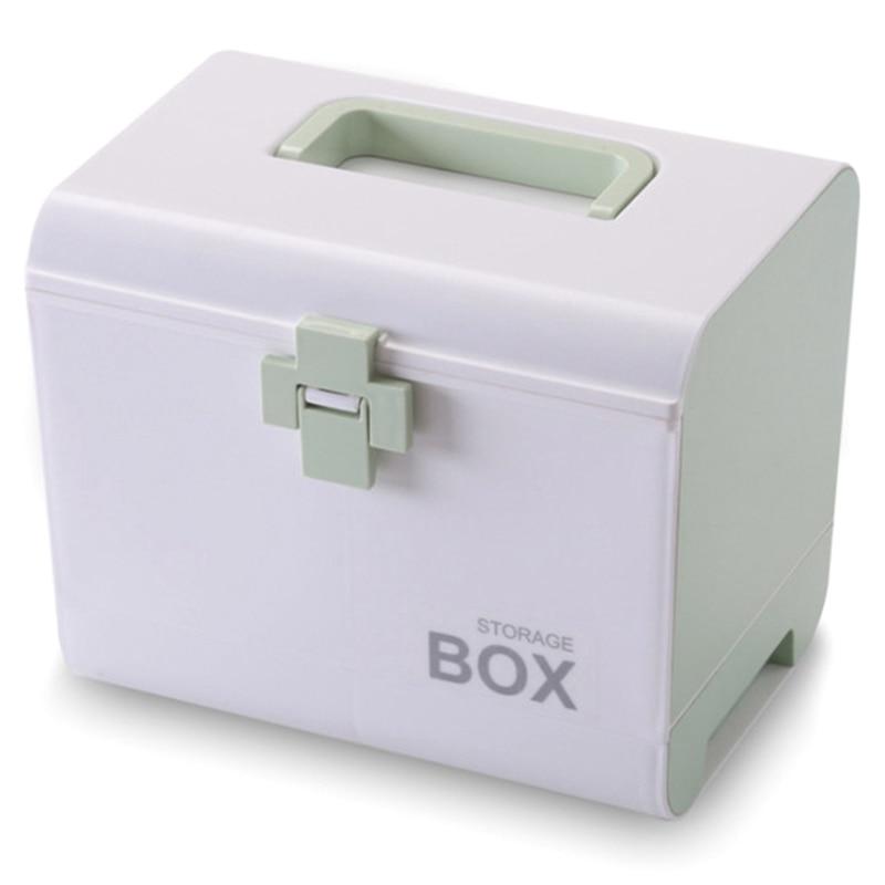 Medicine Box First Aid Box Storage Box Plastic Container First Aid Box Portable Multi-Layer Large Capacity Storage Storage Box