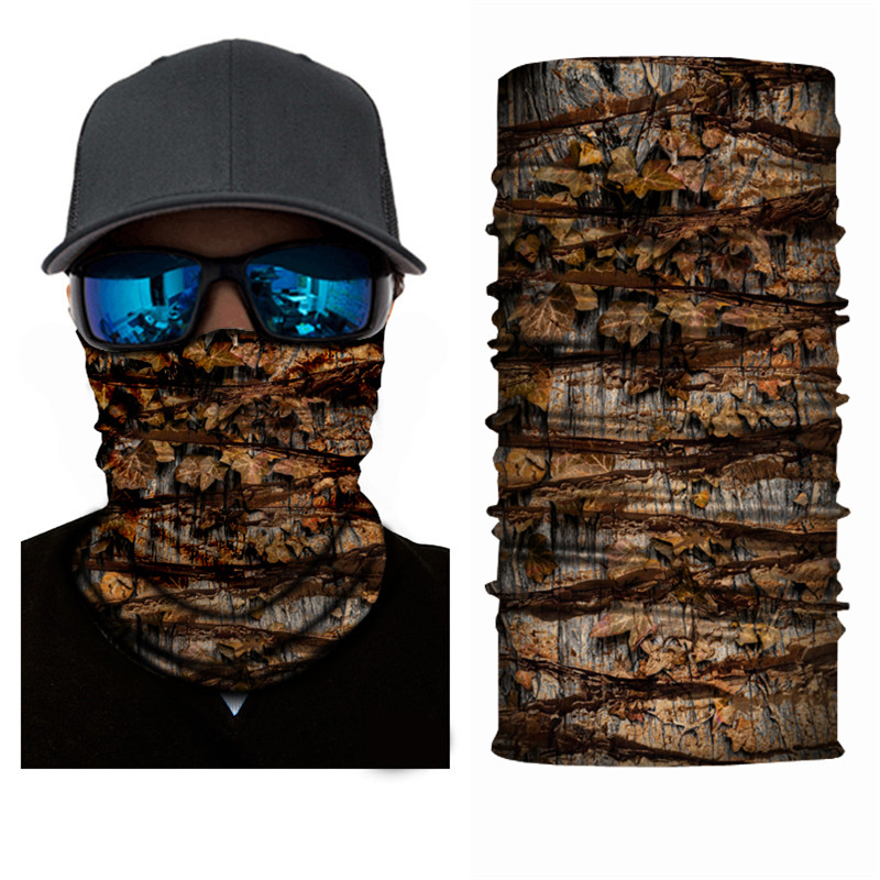 Nature Maple Leave Fishing Face Mask Bandana Polyester Anti UV Masque Windproof Winter Head And Neck Warmer Face Mask Sportswear
