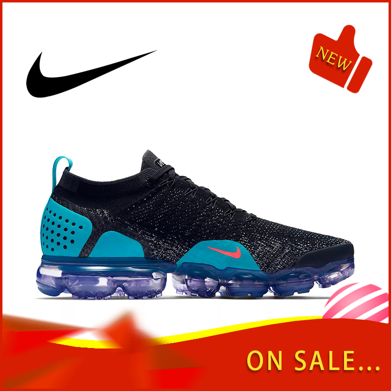 Original Authentic NIKE AIR VAPORMAX FLYKNIT 2.0 Men's Running Shoes Outdoor Wear Sports Shoes 2019 New Breathable 942842-003
