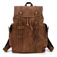 Leather Vintage Backpack Men's Leather Travel Bag Large Capacity Student Bag Backpack Designer Backpacks High Quality