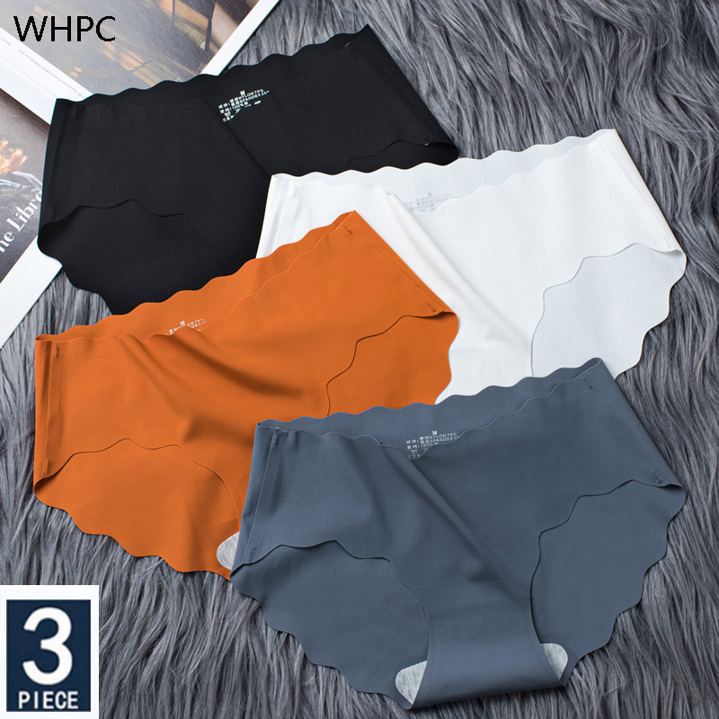 3 pz/set biancheria intima senza soluzione di continuità di seta delle donne di colore solido mutandine Lady Ruffle mutande ragazze slip Smooth Panty Sexy Lingerie 1