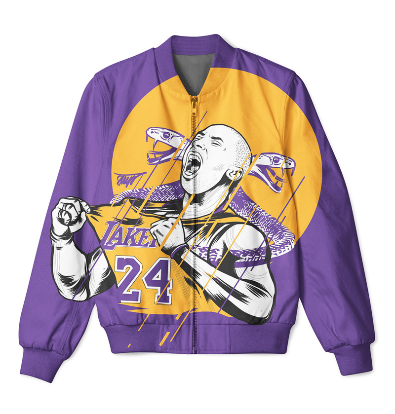 2 Styles REAL AMERICAN US SIZE Black Mamba 3D Sublimation Print Zipper Up Jacket Plus Size Xxxl 4xl 5xl 6xl