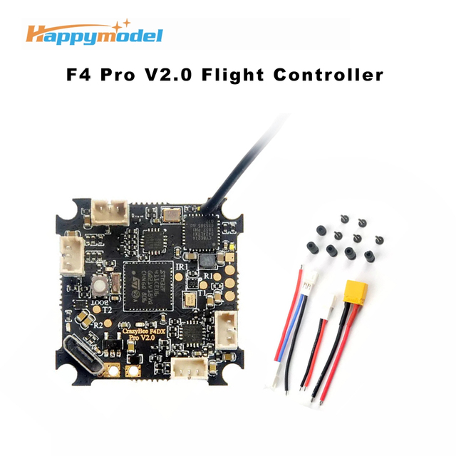 Happymodel كرازي بي F4 برو V2.0 Mobula7 HD 1 3S وحدة تحكم في الطيران ث/5A ESC ومتوافقة Flysky/Frsky/DSMX استقبال