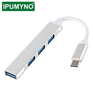 USB C HUB 3.0 2.0 Type C 3.1 Multi 4 ports répartiteur pour Lenovo Xiaomi Macbook Pro Air Pc ordinateur portable ordinateurs portables accessoires