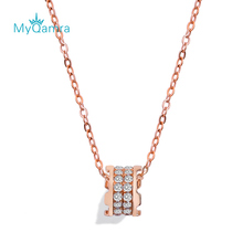 MYQAMRA 18k Pure Gold Necklace Pendant Female Clavicle Chain AU750 Valentines Day Gifts Gift Jewelry