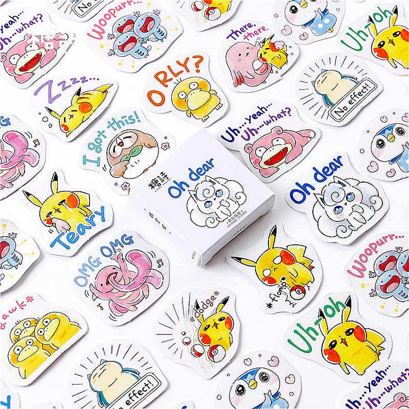 1 Pcs Baru Praktis Pokemon Alat Tulis Stiker Kertas Warna Yang Indah Stiker Kreatif Perlengkapan Dekoratif Stiker