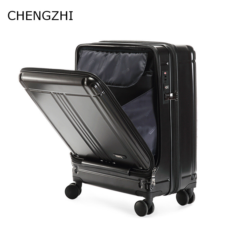 CHENGZHI 20inch Business Cabin Suitcase Carry On Rolling Luggage Luxury High Quality Trolley Bag Laptop Luggage On Wheels